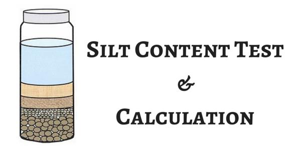 silt content test for sand  fine aggregate