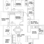 2BHK 2T flat layout