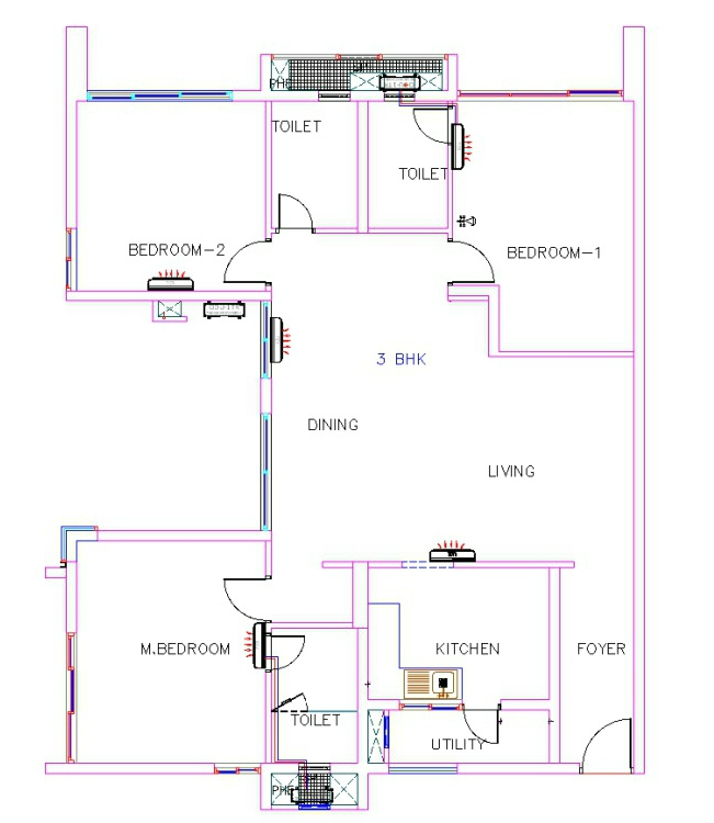 What is 1 BHK, 2 BHK & 3 BHK (0.5 BHK) in a Flat layout ...