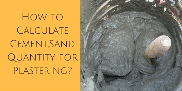 Cement Ratio Calculator : How to calculate cement sand quantity for plastering