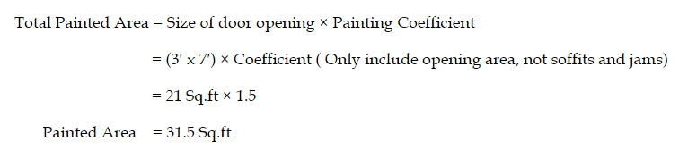 Painting Area Example Calculation