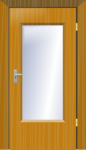 Partly Paneled door
