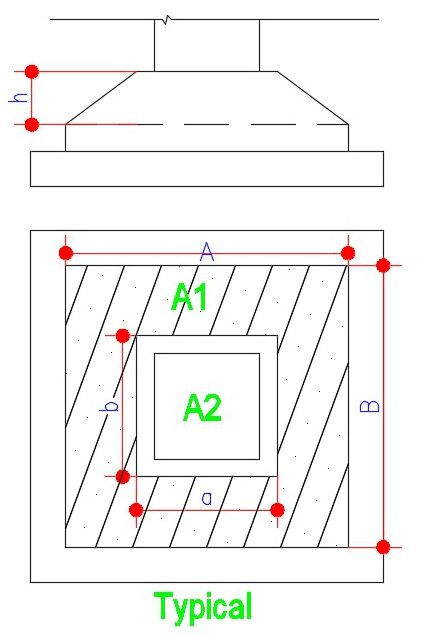 typical trapezoidal footing diagram civilology. Black Bedroom Furniture Sets. Home Design Ideas