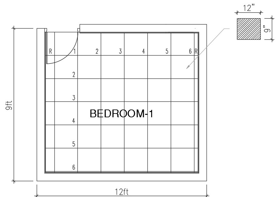 How do you calculate the number of floor tiles you need for Square footage of a room for flooring