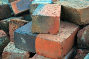 Overburnt Bricks dumped at site