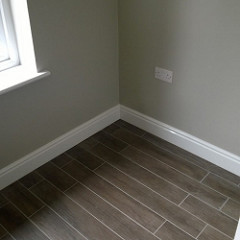 Tile Skirting in a room