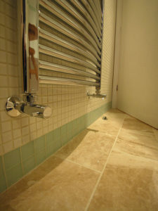 skirting tiles used in bathroom