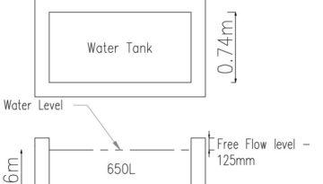 rectangular water tank model