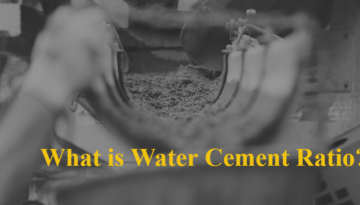 Water Cement Ratio Banner