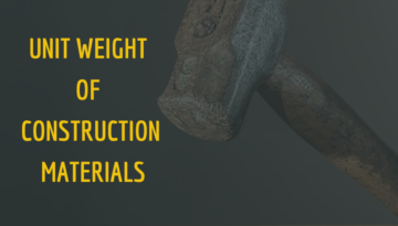 Unit Weight of Construction Materials