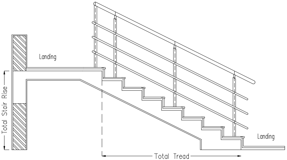 typical staircase section drawing  u2013 civilology