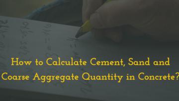 Concrete Calculation