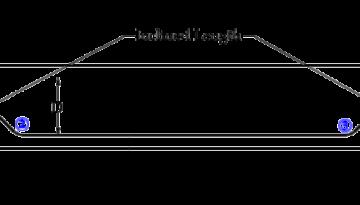 Bent up Bar cross section